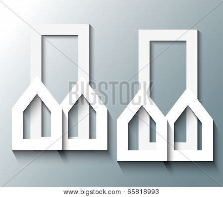 Illustration Of City Buildings With Shadow