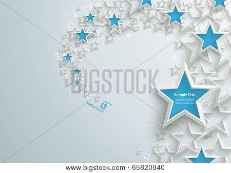 White Stars Blue Stardust