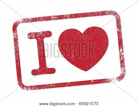 I Love stamp