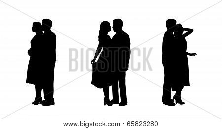Couple In Love Silhouettes Set 2
