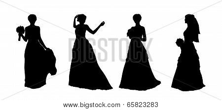 Bride Silhouettes Set 1