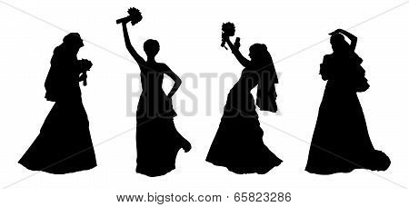 Bride Silhouettes Set 2