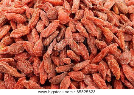 background of dried goji berries (Lycium Barbarum - Wolfberry)