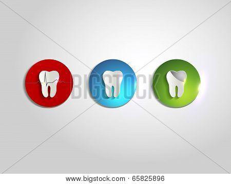 Colorful Teeth Care Symbols
