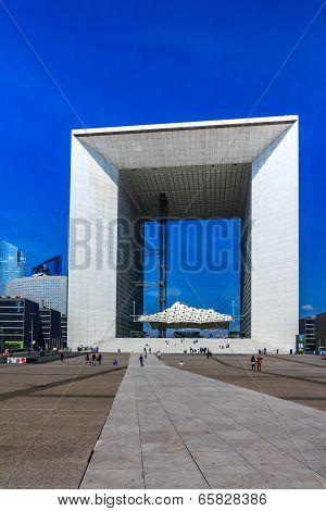 Grand Arch In Business District La Defense, Paris, France.