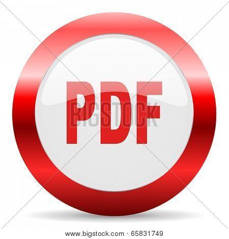 pdf glossy web icon