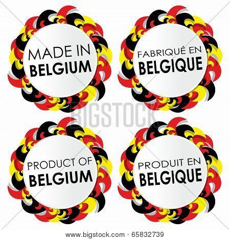 Made In Belgium Badges
