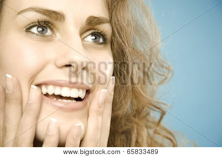 Woman With Wide Eyebrows