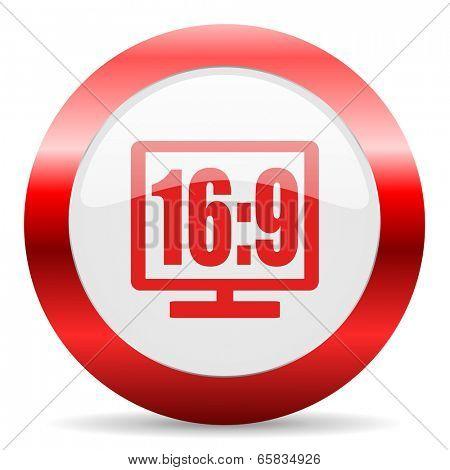 16 9 display glossy web icon