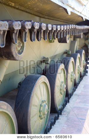 Caterpillar Of Military Vehicle