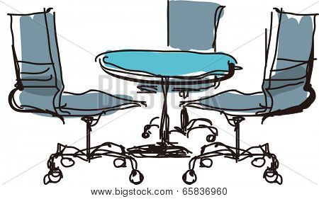 The view of table with chair
