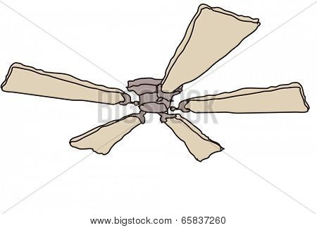 The view of fan under the ceiling