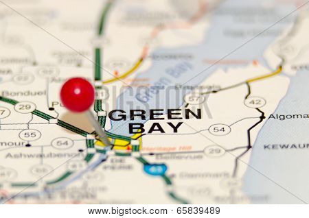 Green Bay City Pin On The Map