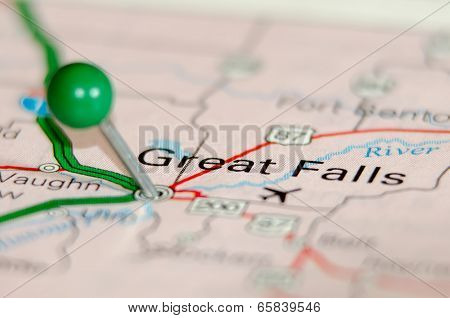 Great Falls City Pin On The Map