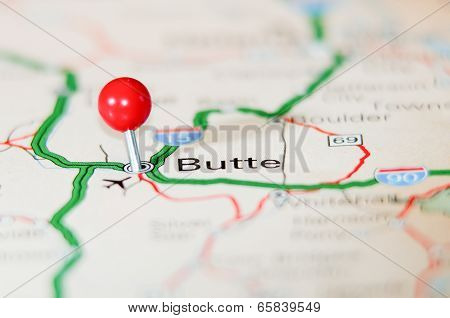Butte City Pin On The Map