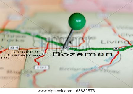 Bozeman City Pin On The Map