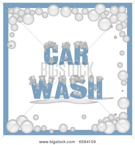 soapy car wash sign