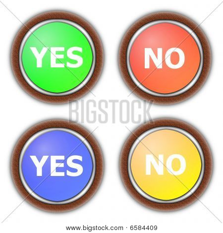Yes And No Button Collection