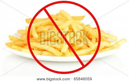 Concept of unhealthy food isolated on white