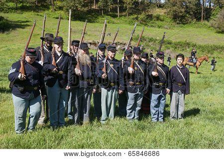 Union Army Reenactors.