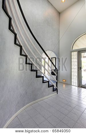 Modern Foyer. View Of Staircase
