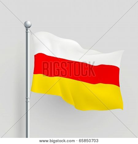 3D Vector The Republic Of South Ossetia Flag