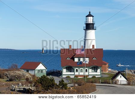 Portland, Maine - Portland Head Light House and Ram Island Ledge Light