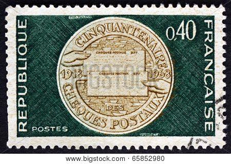 Postage Stamp France 1968 Commemorative Medal