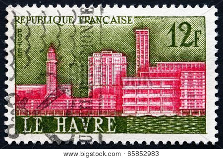 Postage Stamp France 1958 View Of Le Havre