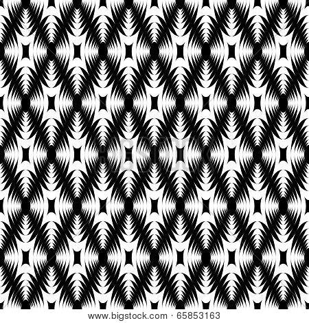 Design Monochrome Geometric Diamond Pattern