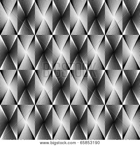 Design Monochrome Geometric Pattern
