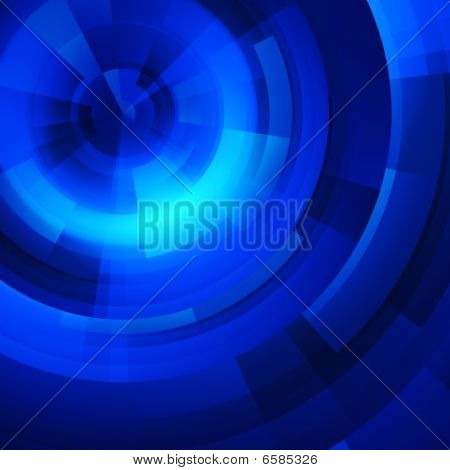 Blue Circles Of Rectangular