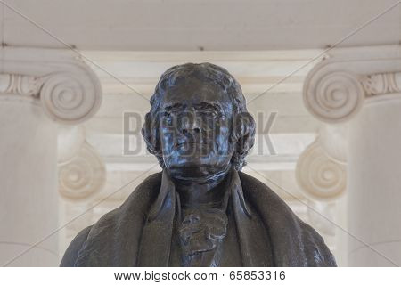Washington, DC - Head and shoulders of Thomas Jefferson