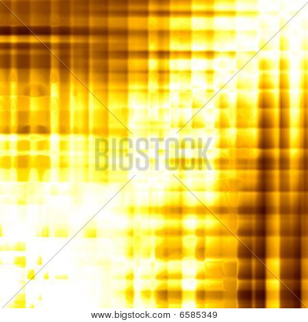 Golden Background Of Glossy Squares