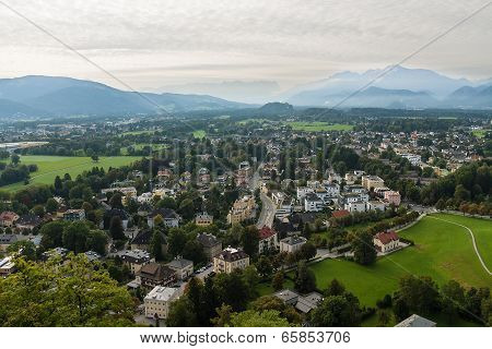 View Of The Historic City Of Salzburg, Salzburger Land, Austria