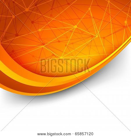 Bright Orange Intricacy Molecule Background