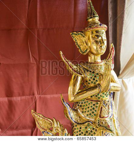 Thai Art Gold Angel Statue
