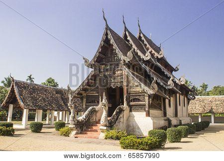 Northern Thai Lanna Art Temple