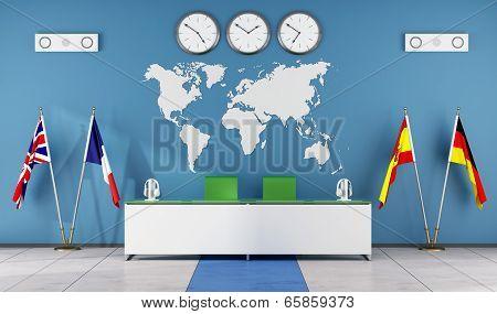 Modern Classroom Of A Language School