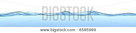 Water Surface With Waves And Ripples.