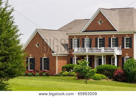 Front Of Large Single Us Family Home