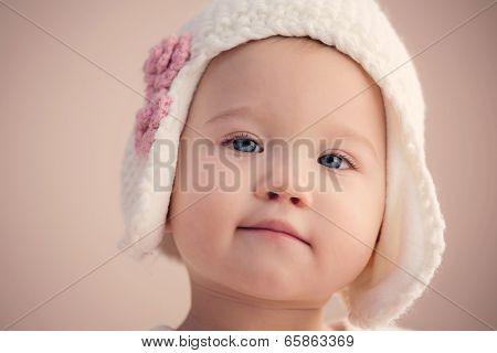 Stunning Baby Girl Closeup