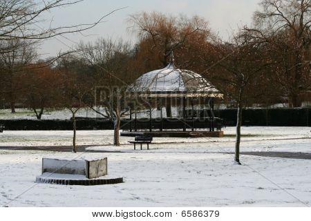 Snow In Godalming Town Park, Surrey