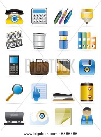 Office tools vector icons