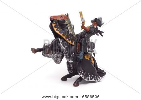 The Horseman With A Pistol Astride A Horse A Toy.