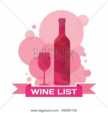Wine Bottle and Glass - Illustration for creative design projects.
