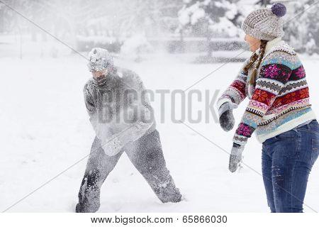 Snowball Fighting