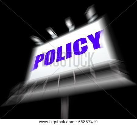 Policy Media Sign Displays Code Protocol And Guidelines