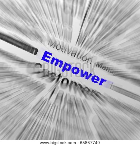 Empower Sphere Definition Displays Motivation And Business Encouragement