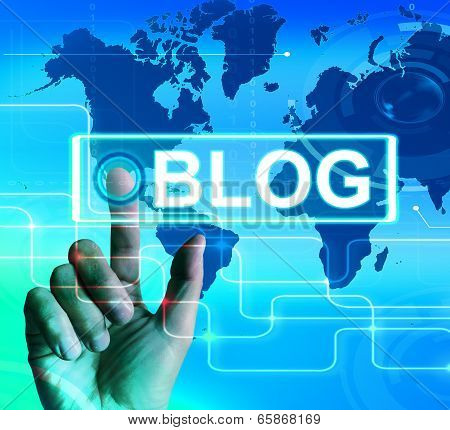 Blog Map Displays International Or Worldwide Blogging